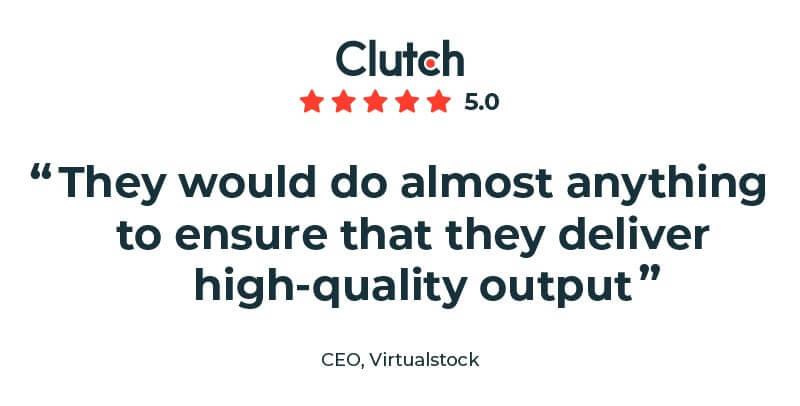 Virtualstock CEO Clutch review