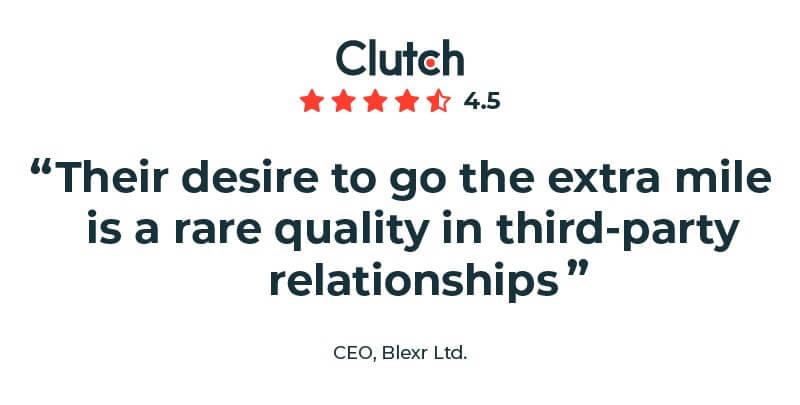Blexr Ltd. CEO Clutch review