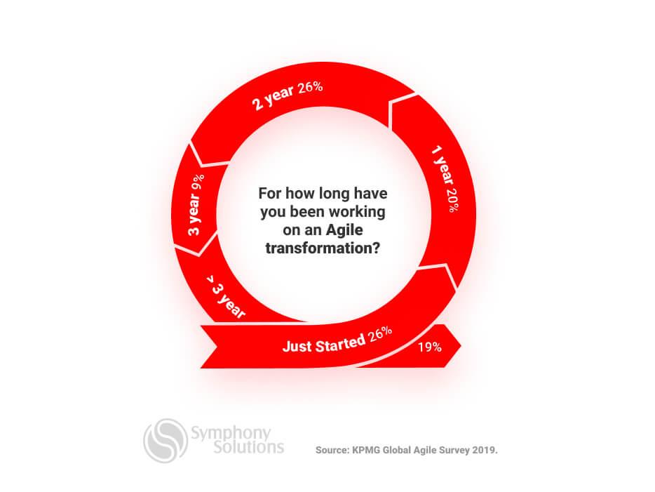 Agile transformation timeline - Comapnies survey