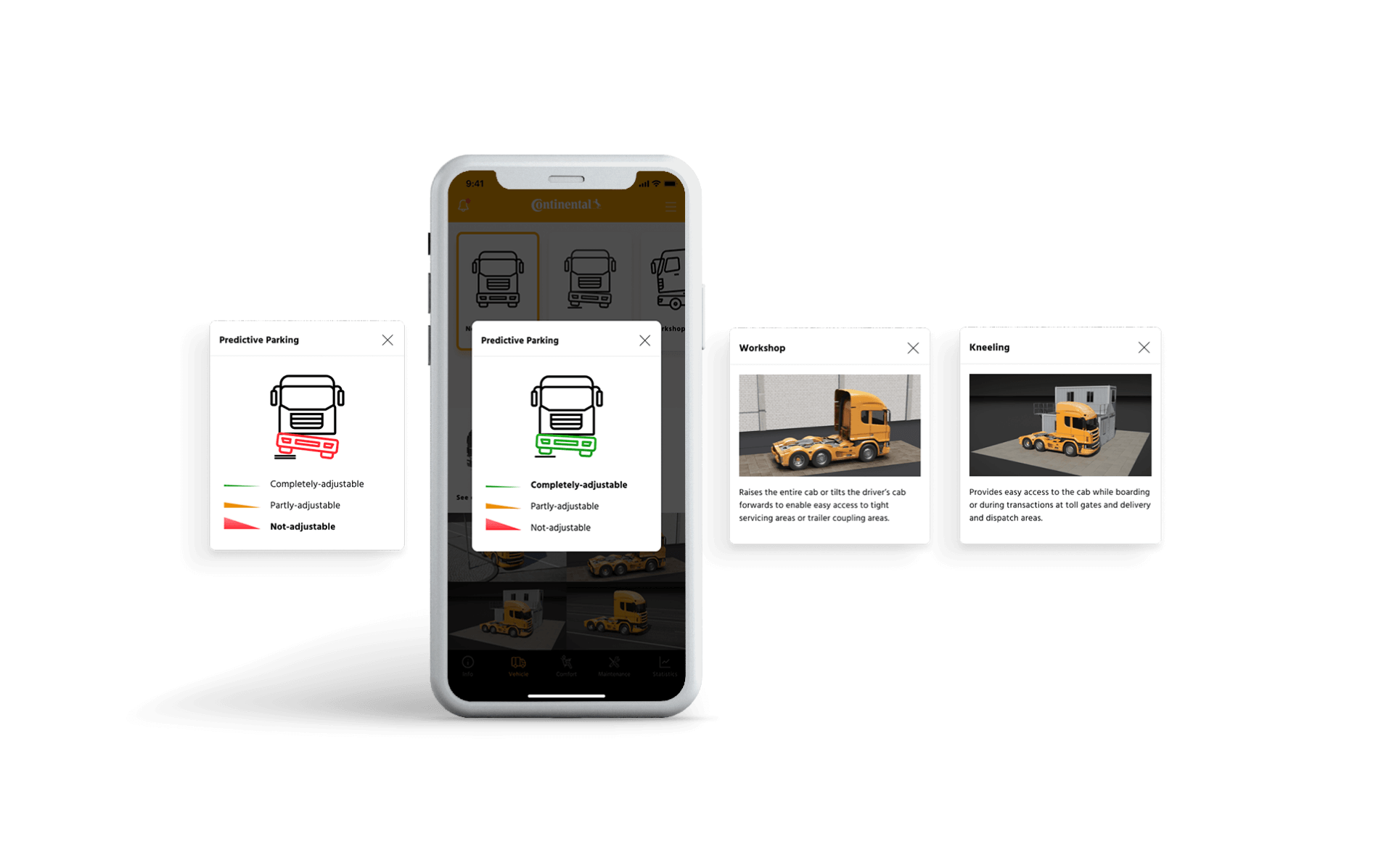 Integrated mobile application for fleet management interface