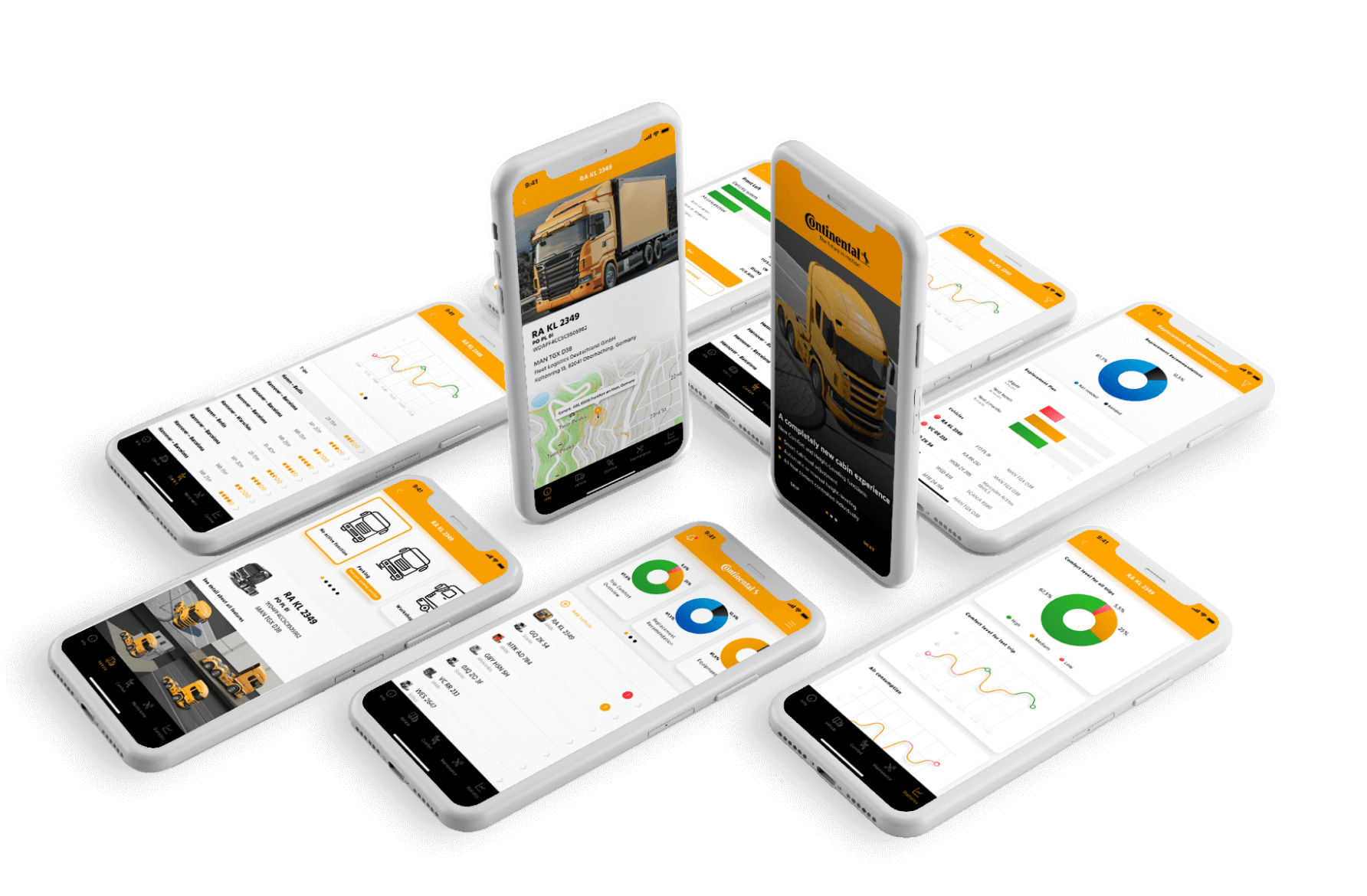 Integrated mobile application for fleet management functionality