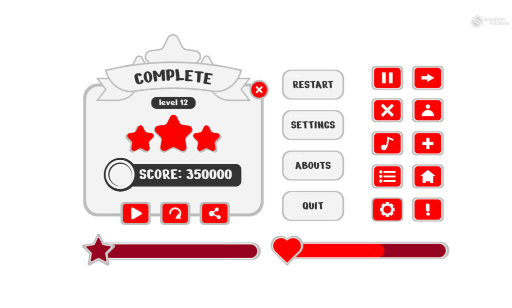 common buttons types for mobile games